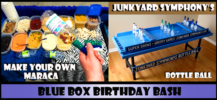 Junkyard Symphony's Blue Box Birthday Bash