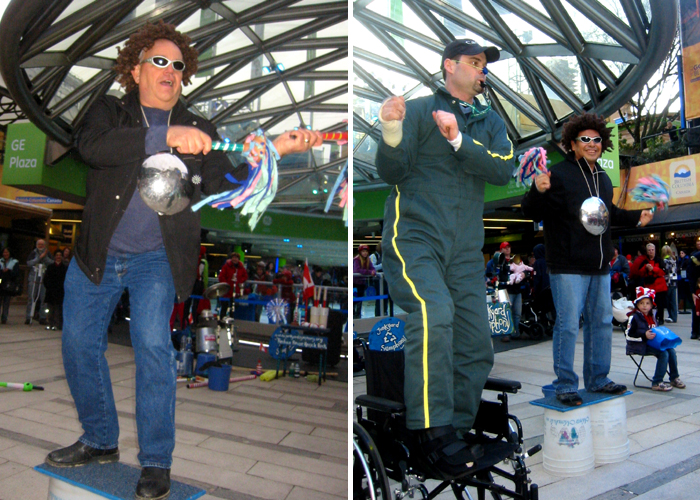Performing at Robson Square in downtown Vancouver