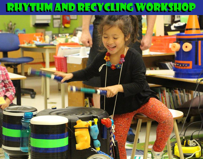 Junkyard Symphony's Rhythm and Recycling Workshop