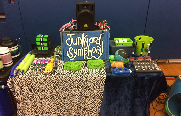 Junkyard Symphony's Rhythm and Recycling Workshop Gear